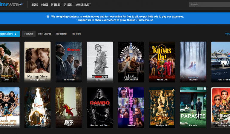 Primewire- Free online movie streaming sites